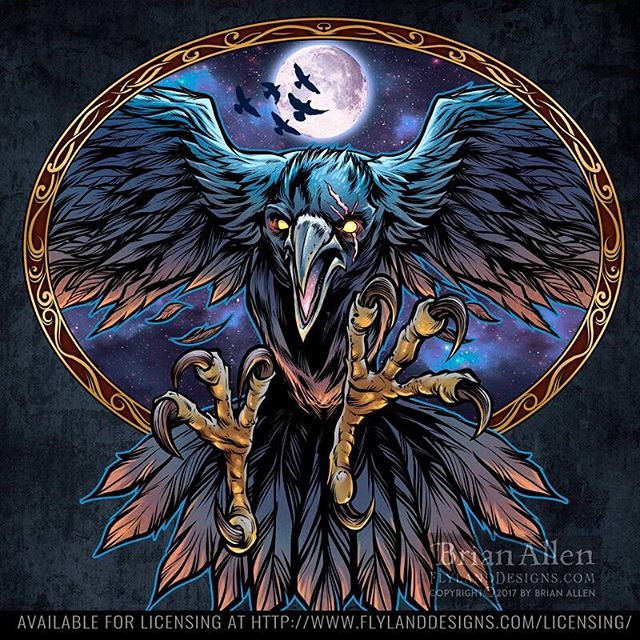 Here's an illustration of Odin's Raven that I created recently - tried to do something creative with the lighting. Any suggestions? Thinking this would look cool on a shirt. #odin #ravenart #art #mangastudio #clipstudiopaint #illustration #tshirtdesign #freelance #hire