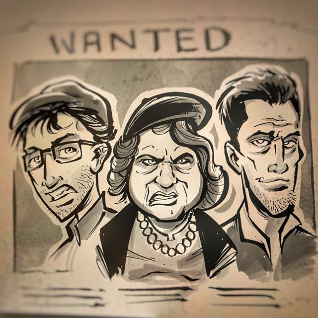 Digital #ink illustration of our favorite crime family from the #Goonies. I'm experimenting with a new quicker, rougher style in Manga Studio using my wash brushes and textured ink pens. I really like the result, any feedback?Illustrated by Brian Allen, https://www.flylanddesigns.com/#Fratellis #mangastudio #photoshop #illustration #art #instaart #instaartist