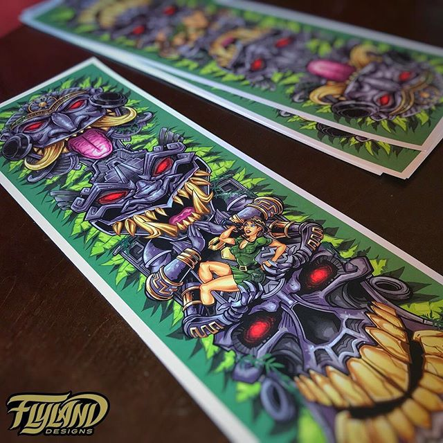 Thanks again for the tremendous support on this - sending out another batch of signed Aztec tiki totem prints. I put everything I had into this one - onto the next! Still have a couple more if you want one https://www.flylanddesigns.com/shop/ #aztecart #cannabisart #tikiart #beachart #artprint