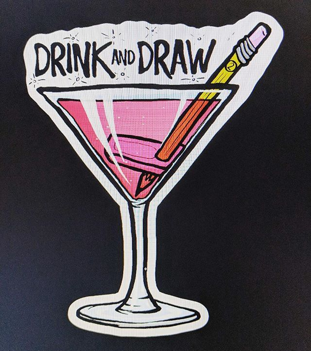 Ch KC out this cool sticker my friend @sixstyle_illustration created for drink and draw! Drink and Draw will be happening again this month, Wednesday June 27 from 7-9pm, free for all local artists at Champs Sports Grill on North Atherton Street in State College. Hoping to build on the success of the first one last month. Thanks for your help in spreading the word! #drinkanddrawsc #drinkanddraw #champssportsgrill