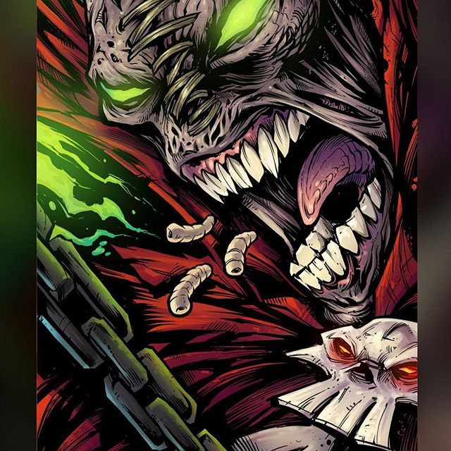 Todd McFarlane's Spawn was such a huge influence on my art style as a kid. So I was really thrilled to be asked by the artist @Chogrin to be a part of a book presented to Todd McFarlane himself to commemorate 25 years of the Hellspawn! This was the first piece of artwork that I created completely on the iPad Pro, every step. I think I could have done better on the Wacom, there are some parts I'm not happy with. But overall, I really enjoyed working on the tablet and being out on my back porch while working.#art #spawn #mangastudio #clipstudiopaint #illustration #spawnfanart #ipadpro #hireanillustrator #freelanceartist #toddmcfarlane