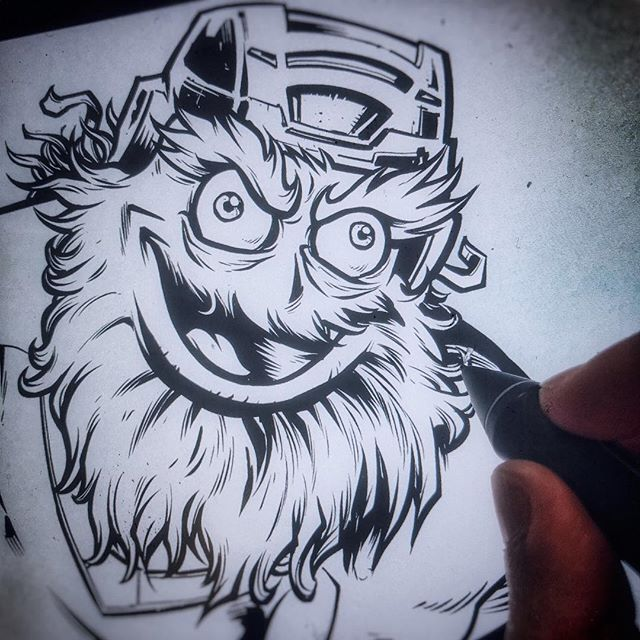 I'll be drawing and answering questions LIVE today on my YouTube Channel at 2pm EST -coloring this Gritty Tribute I made, talking about my experience with the whole process.Add your questions to the comments if you can't make it, and I'll try to answer them.https://www.youtube.com/user/flylanddesigns#philadelphiaflyers @grittynhl #nhl #hockey#mascot #characterdesign #characterdesigner #conceptartist #mascotdesign #characterart