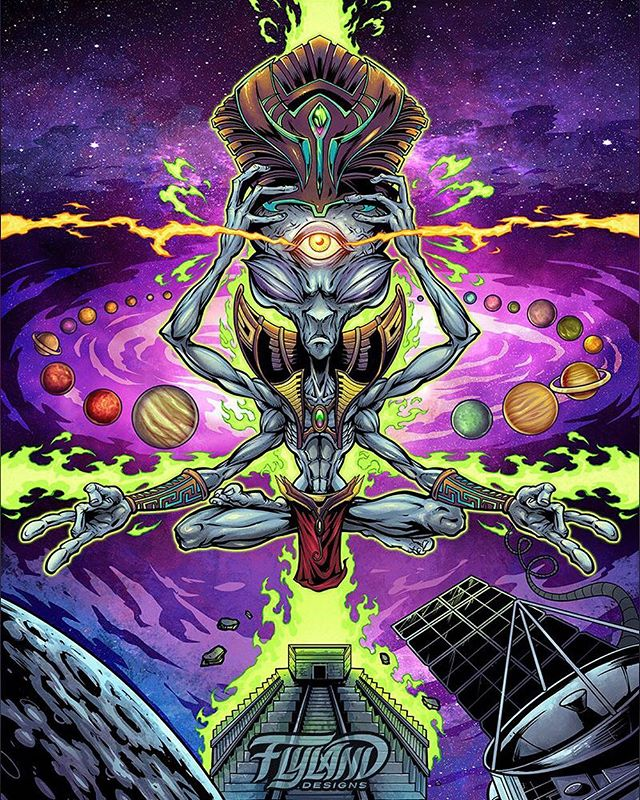 Psychedelic tapestry of a gray space alien meditating amongst spaceships, planets, stars and galaxies I illustrated for my friends at @Wazshop in #clipstudiopaint#psychedelicart #meditation #trippyart #cannabisart #mushroomart #marijuanaartist #cannabiscommunity#art #originalartwork #mangastudio #clipstudiopaint #illustration #hireanillustrator #freelanceartist #wacomcintiq