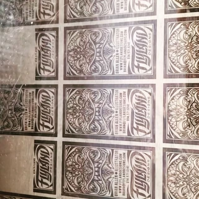 Decided to spend some extra cash and get some wood-engraved business cards from @graffitipete for the Jack Herer Cup in Las Vegas I'll be attending next month. Figured it might not hurt to make a business card that people will hesitate to throw away! Love watching these things come to life.#tikiart #tikibar #beachart #tikitotem #surfart #tikiartist #beach #woodengraved #laserengraved