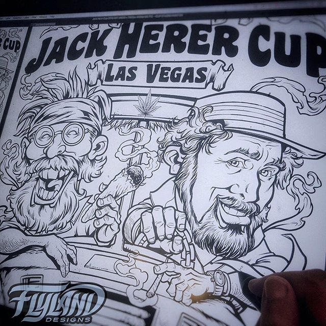 Working on the inks for the Jack Herer Cup poster - so excited to be part of this great event in Vegas, and possibly meet the legend Tommy Chong! I hope I did the portrait of Mr. Herer justice - a lot of pressure when dealing with such an important and revered figure.....#VegasWeedWeek #vegasbaby #vegascannabis #cannabis #cannabiscommunity #lasvegascannabiscommunity #leafly #cannabiscup #jackherercup #jackherercup2018 #cannabisart