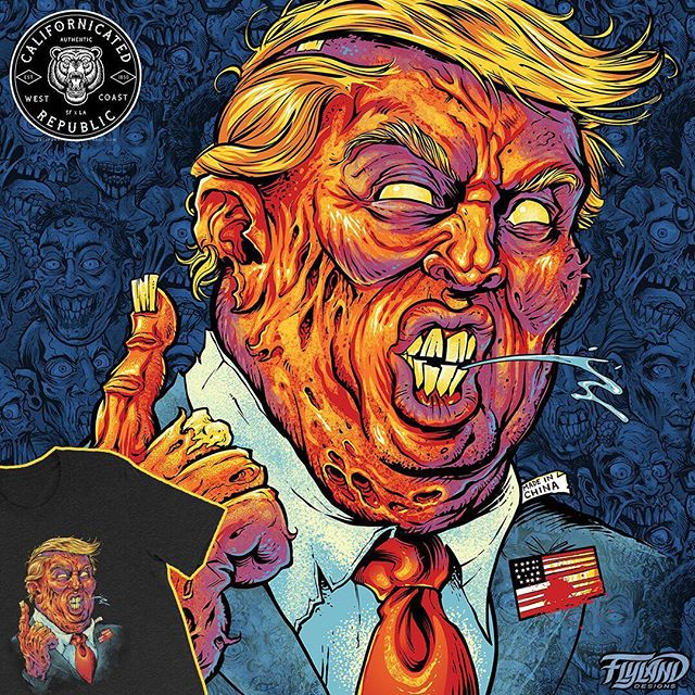 Don't forget to gear up for the mid-terms! Trump Zombie I drew available under my clothing brand with the talented @johnjserrato called @californicatedrepublic This is part of our Stoner Gore series!Available now at http://californicatedrepublic.com/ ...#zombie #420 #cannabiscommunity #marijuana #art #Californicated #hightimes #cannabisbrand #cannabis #weed #weedstagram #topshelf #cbd #indica #sativa #hybrid #trump #marijuana #art #BrianAllen