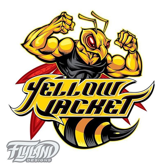 Here's the finished Vector illustration I created for Yellow Jacket's line of fitness gear - the client was really pleased with it! This cleaner style is a little different than my usual stuff, but for this logo, we needed something that would print really nice and clean at a small size in limited color, so vector was the way to go.#logodesign #logodesigner #logoconcept #logoart #logoinspiration#fitness #fitspo #gainz #getstrong #weightraining #shredding