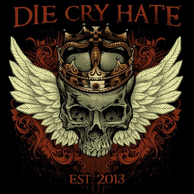 This illustration was done for Die Cry Hate as a spin-off of the Live Laugh Love apparel.
