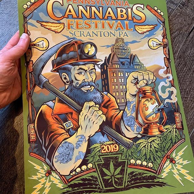 Special thanks to Mandy and Jeff Zick and crew for putting on such an excellent show! I have only 10 PA Cannabis Festival posters left. They are hand signed and numbered by me. Limited to 100. Printed on 11x14 cover stock paper, full bleed, with archival ink.https://www.flylanddesigns.com/shop/