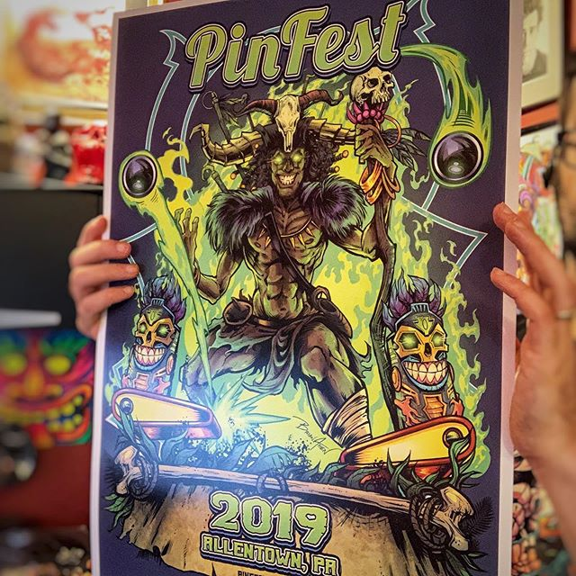 I have just two of these large Pinfest posters left, I'd love to unload them. They are 14inX20in - printed on heavy card stock paper with archival inks. Signed and numbered. Limited to 30. Thanks to everyone who picked one up! Can't wait for next year!https://www.flylanddesigns.com/shop/#pinfest #voodooart #pinballart #pinballartwork #pinball #pinballmachine #playfield #backglass