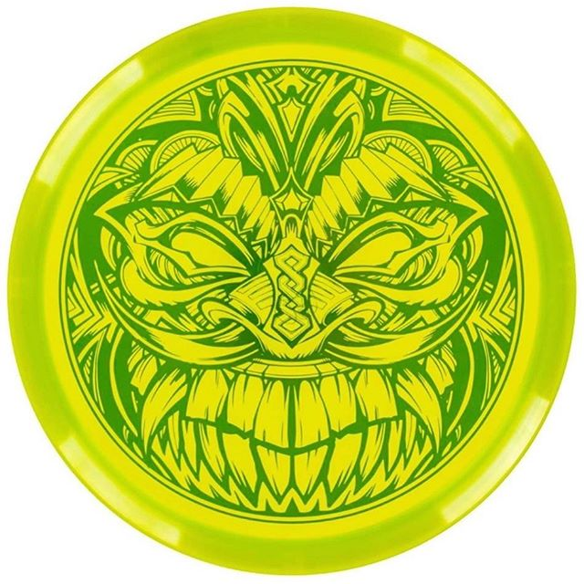 Wanted to share this Tiki series Disc Golf United is putting out with my tiki artwork on it. Available in a ton of different colors - check it out! @innovadiscs #discgolf #innova #discgolfart #frisbeegolf #tiki #tikiart #tikiartwork #beachart[https://store.discgolfunited.com/discs/dgu-originals/tiki-series.html](https://store.discgolfunited.com/discs/dgu-originals/tiki-series.html).