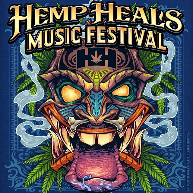 This is a quick poster I put together for Hemp Heals Music Festival using Tiki artwork I already created. SLIGHTLY STOOPID will be there playing live!!! I'll be at this festival June 16th selling my wares, and 50 limited edition posters for the event. Anyone near Camden, New Jersey?#hempheals #hemphealsfoundation #hemphealsfestival #cannabisfestival #slightlystoopid #slightlystoopidconcert #cannabis #marijuana #tikiart