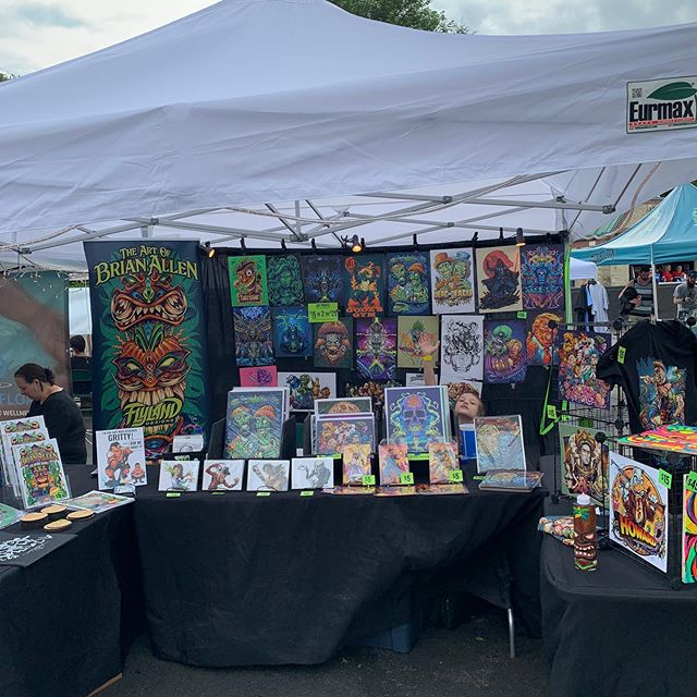 Michael is spending Father's Day with me at @hemp__heals Festival I. New Jersey today. Can you spot him in there?