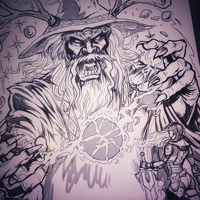 Drawing a space wizard today for a festival poster, inspired by the classic Heavy Metal magazine covers.....#wizard #psychedelicart #art #originalartwork #mangastudio #clipstudiopaint #illustration #hireanillustrator #freelanceartist #wacomcintiq