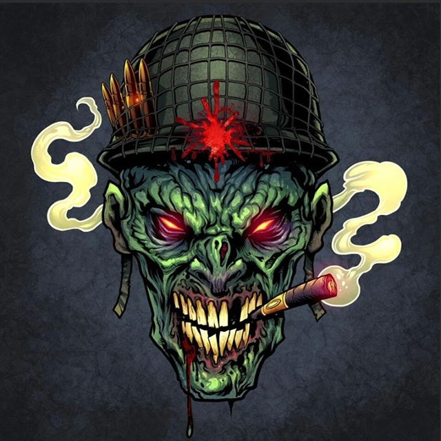Speed painting of a zombie soldier I created for a client's Paintball course. I usually color my work on Clip Studio Paint because I find I can work much faster than Photoshop. Been drawing a ton of zombies lately - thought that fad would have does out but it won't seem to die. Get it?#zombieart #zombies #clipstudiopaintpro #darkart #mangastudio #paintballart