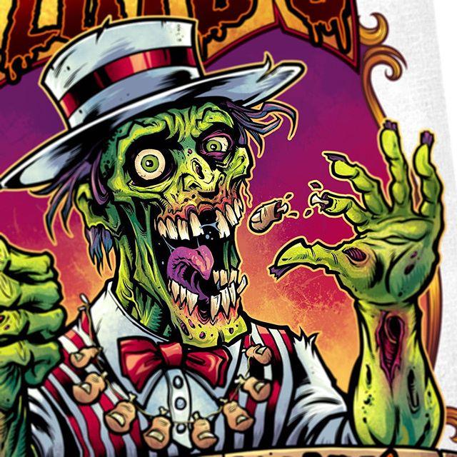 Chompin' on toes Friday - drawing zombies for a crazy board game logo.....#zombieart #zombieartist #undead #horrorart #monsterart#art #originalartwork #mangastudio #clipstudiopaint #illustration #hireanillustrator #freelanceartist #wacomcintiq
