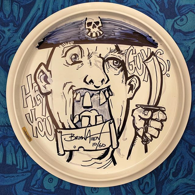 Sloth from Goonies ink sketch I just drew on the back of the last unsold foil Goonies disc out there. PM me if you want it!#goonies #discgolfart #discgolf #discraft #gooniesfanart #inksketch