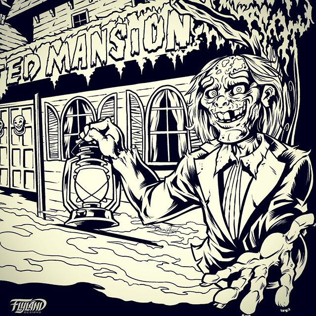 The famous Haunted Mansion in Rehoboth Beach Delaware is celebrating their 40th year, and hired me to create a t-shirt and marketing materials for the event. This project means a lot to me, because I've been to Funland every year of my life since I was two years old, and now I'm taking my own kids. Here's a crop of the ink stage created in Clip Studio Paint.#funland #hauntedmansion #zombieart #art #originalartwork #mangastudio #clipstudiopaint #illustration #freelanceartist #wacomcintiq