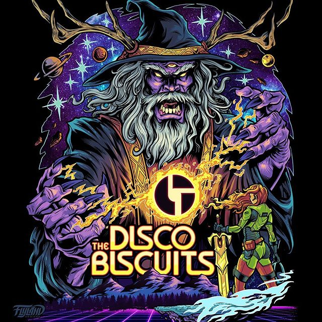 Full colors on the Gig Poster and t-shirt artwork I created for the Philadelphia electronic rock group The Disco Biscuits.Special thanks to the Disco Biscuits and HiLine Merch for making this happen!#campbisco #thediscobiscuits #musicfestival #bandmerch #bandtshirtart #tshirtart#psychedelicart #trippyart
