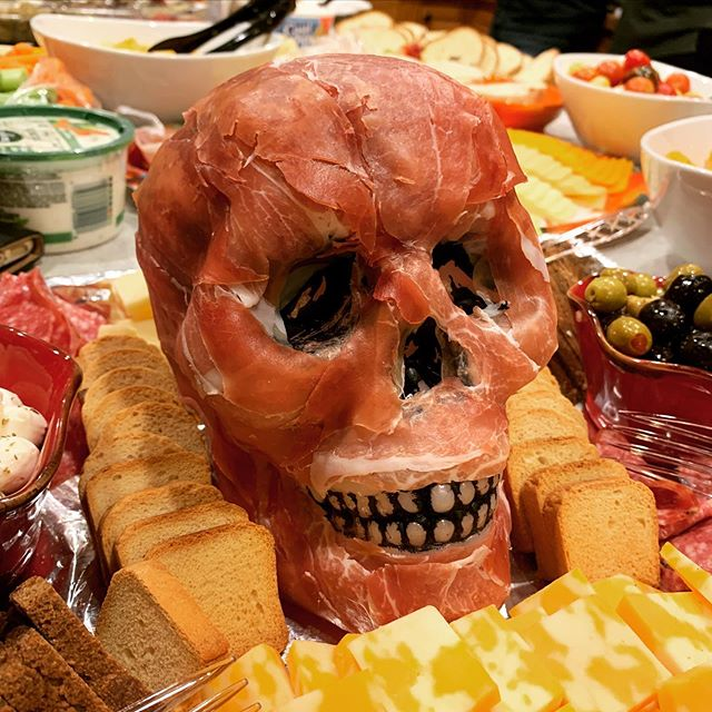 Our new neighbors made this awesome skull spread at their Halloween party this weekend! Tasty!