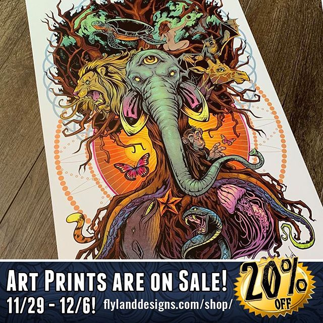 This whole week we are having a sale on all my artprints! Check them out at https://www.flylanddesigns.com/shop/‍#artprints #sale #artwork #elephant #flylanddesigns #animals #posters