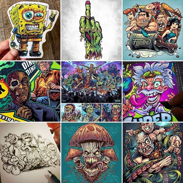 Here are the top 9 most popular posts I made all year. A weird mix of stuff. Glad to see Monster Bash is on there - I put all I had into that one. Thanks for all the love and support this year - time to do it all again!#top9 #top9art #art #originalartwork #mangastudio #clipstudiopaint #illustration #hireanillustrator #freelanceartist #wacomcintiq