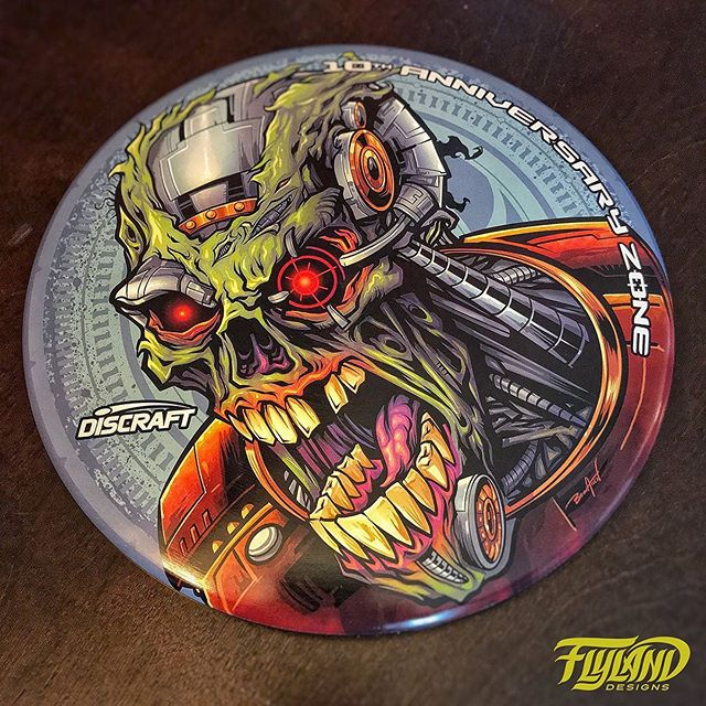 Client work for Discraft I created for their catalog a while back that I always dug. They always send me a bunch of free samples, which is great becuase I usually lose 2-3 discs every time I play!#cyborg #zombieart #zombie#discgolf #frisbeegolf #discraftdiscs #teamdiscraft #discraft #disc