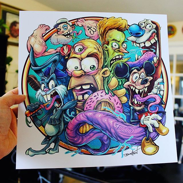 I'm restocking my Cartoon Parody art prints in my shop - let me know if you'd like one!Signed by the Artist.Printed on high-quality cover stock matte paper with archival inks.••••#cartoonpartody #beavis #stimpy #mickeymouse #homersimpson #artprints #artprintsforsale #artposter #posterart #flylanddesigns #artist #instaartist