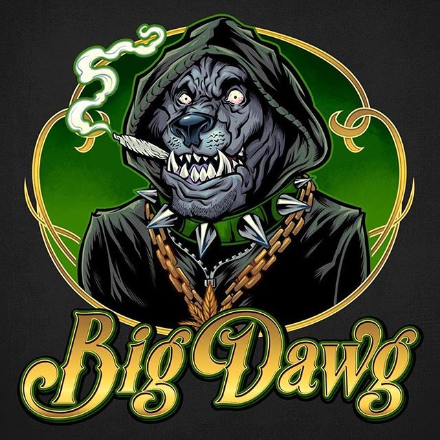 Finished logo design for a Cannabis lifestyle brand called Big Dawg I created for a client • If you need a logo, hit me up!#meditation #trippyart #cannabisart #mushroomart #marijuanaartist #cannabiscommunity#mascot #characterdesign #characterdesigner #conceptartist #mascotdesign #characterart