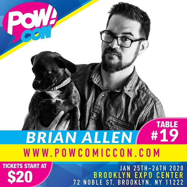 If you're near the Brooklyn NY area this weekend, please come out and see me, and all the other artists, vendors, and celebrity guests! First con of the year - very excited about this one. See you there!#popculture #comiccon #artconvention #brooklyny