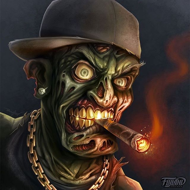 Gangster Zombie I digitally paintied in Clip Studio Paint years ago for a client.Contact me if you'd like a Zombie portrait for your brand!•••#zombieart #zombieartist #undead #horrorart #monsterart