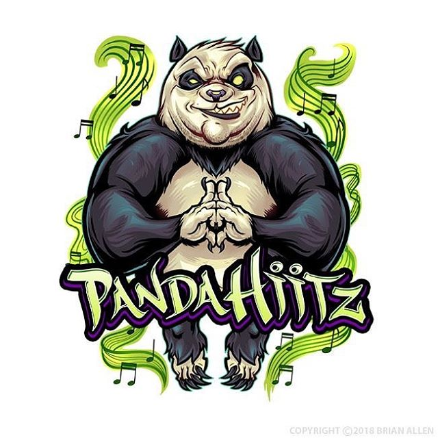 Logo Character Design for a lifestyle brand called Panda Hitz featuring a meditating panda I drew in Clip Studio Paint. Still not the strangest thing I've drawn by a long shot!#hiphopart #mascot #characterdesign #characterdesigner #conceptartist #mascotdesign #characterart