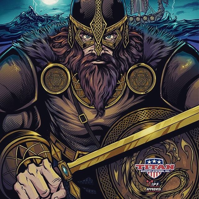 Client Work • Viking illustration I created last year for a line of wrestling singlets for Titan Fitness. I made a celtic pattern brush and scale brush in Clip Studio Paint which helped those tedious details tremendously!#art #viking #vikingart #mangastudio #clipstudiopaint #illustration #wrestlingsinglet #freelanceartist #wacomcintiq