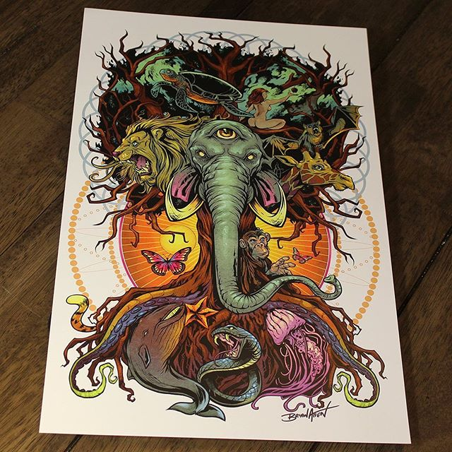 I'm reprinting a batch of my Tree of Life artwork on prints. This piece is very special to me. Could it be special to you? Only time will tell.Signed by the Artist.Printed on high-quality cover stock matte paper with archival inks.#psychedelicart #trippyart #treeoflife #nature #tapestryart #artprints #artprintsforsale #artposter #posterart #flylanddesigns #artist #instaartist