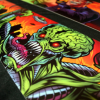 Attack From Mars side blade decal artwork for pinball machines