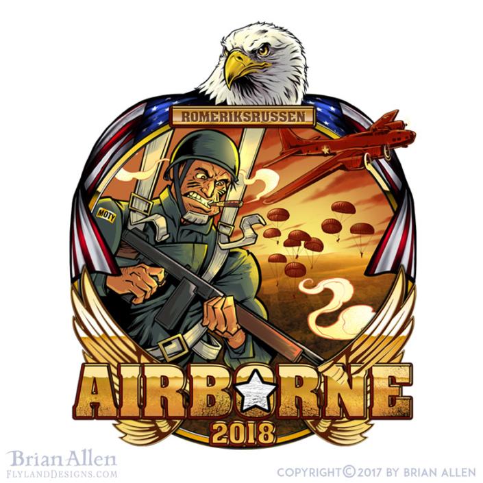 A patriotic American military th