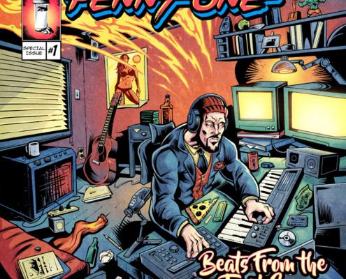 Colorful pulp comic book illustr