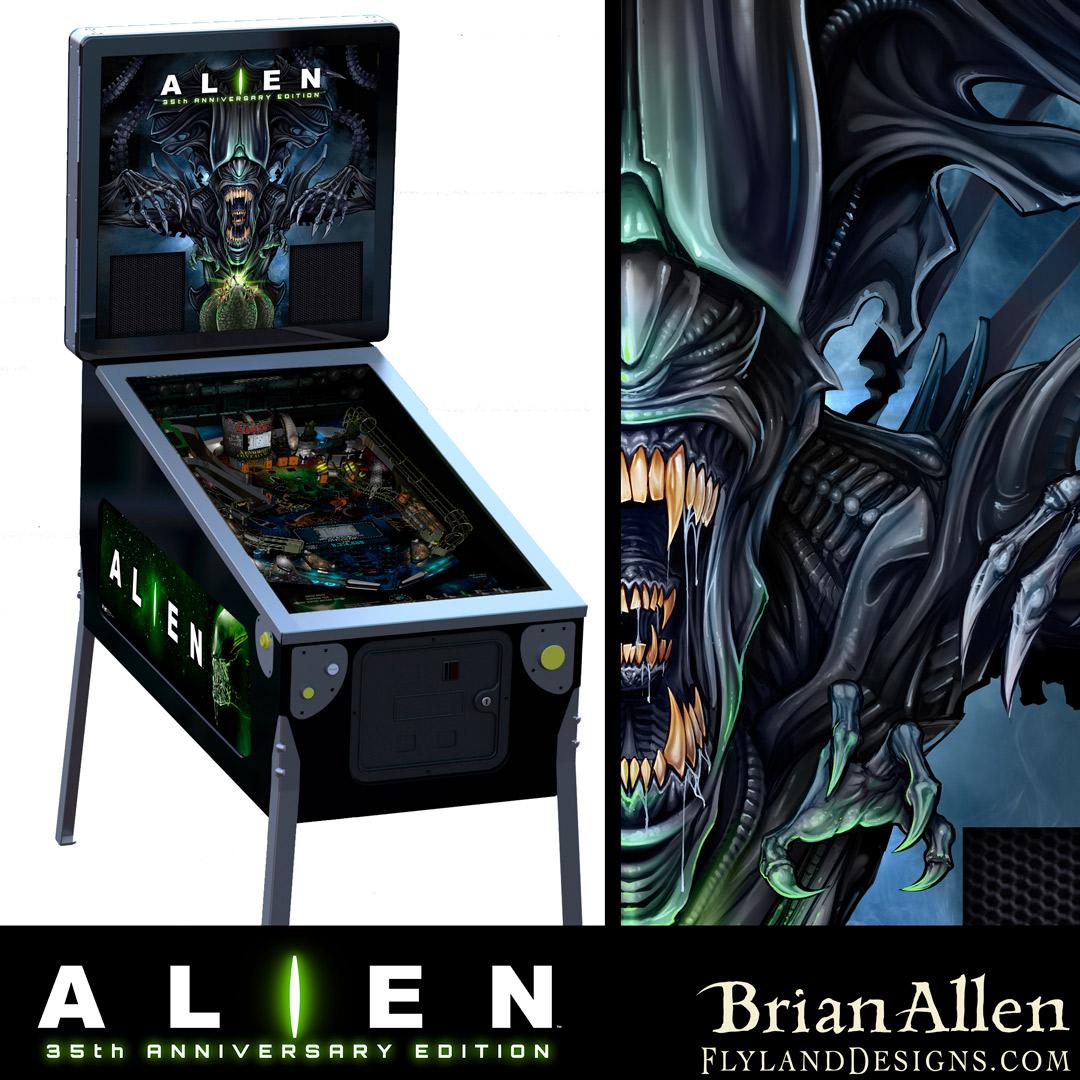 Official Alien pinball machine b