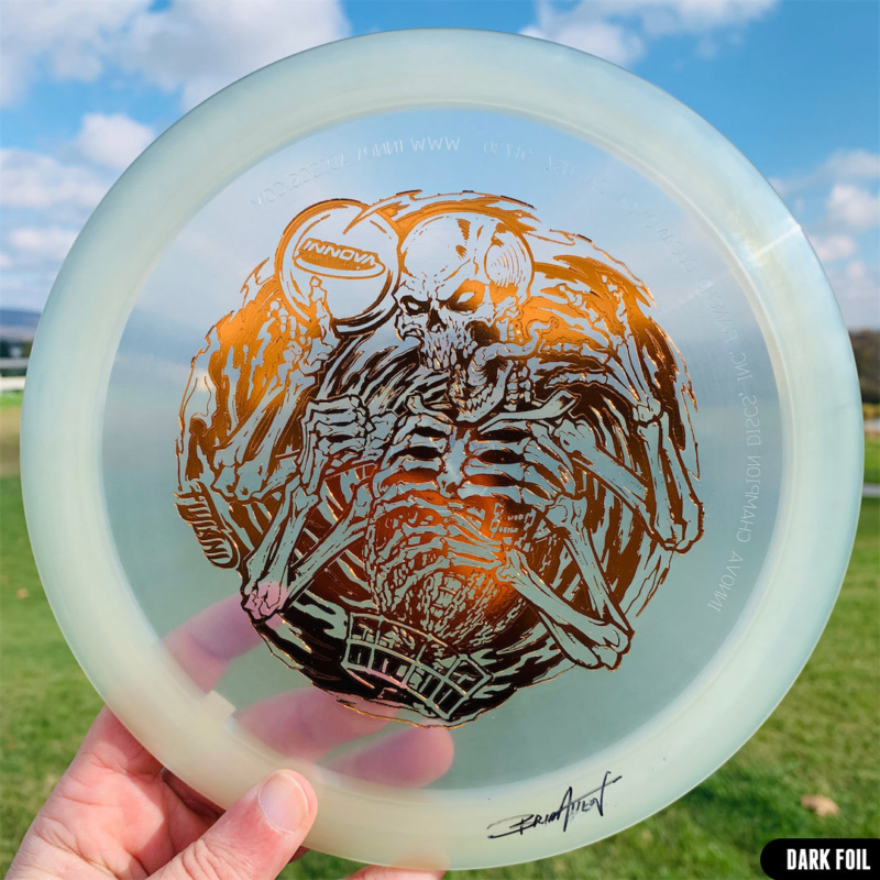 Artwork by Brian Allen printed on Innova Disc Golf Discs