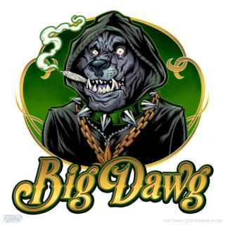 urban cannabis dog mascot