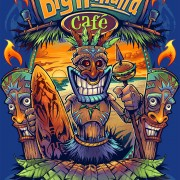 Tiki man on beach T-Shirt design for restuarant