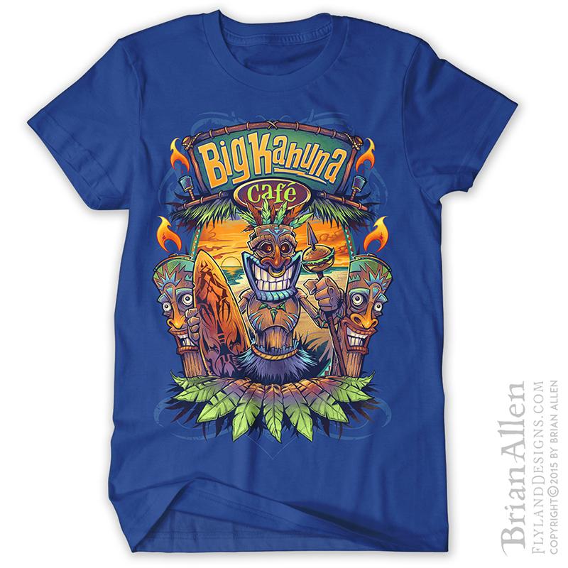 T shirt design illustrator freelance illustrator brian allen for Custom bar t shirts