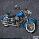 Blue Motorcycle