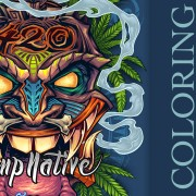 Bongjour Tiki T-shirt coloring Tutorial