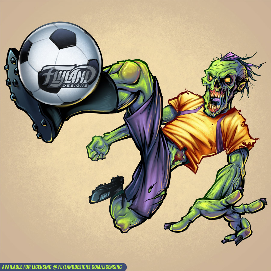 Zombie Soccer Player
