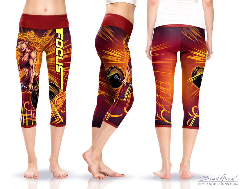 Crossfit Comic Book Yoga Pants - Flyland Designs, Freelance ...