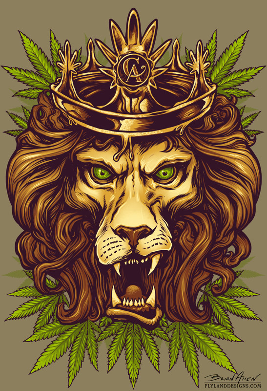 lion wearing a crown o...
