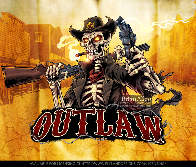 Mascot illustration of an outlaw