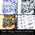 Custom brush presets for Manga Studio 5 (Clip Studio Paint)