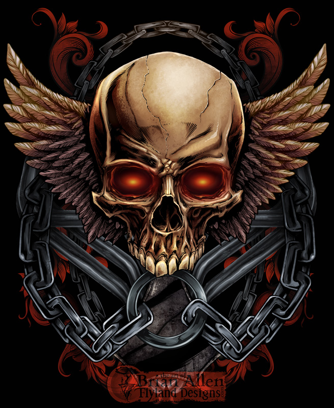 Skull T-Shirt Design for MMA Apparel Brand